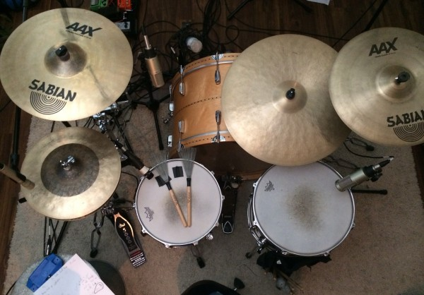 Custom Drum Set Top View