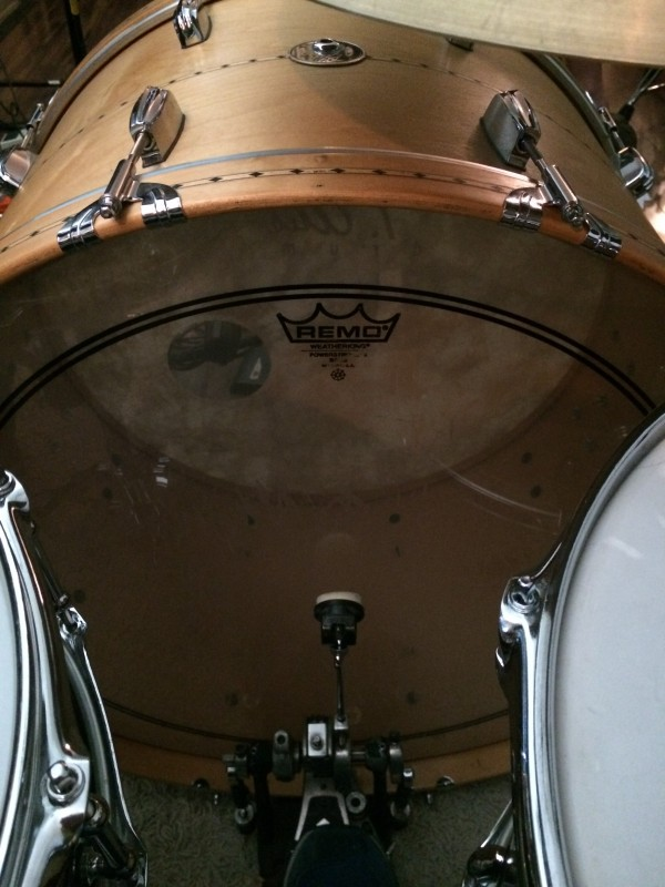 "26"" maple bass drum"